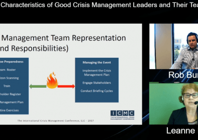 Characteristics of Good Crisis Management Leaders and Their Teams