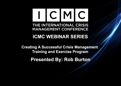 Creating a Successful Crisis Management Training and Exercise Program