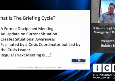 3 Steps to an Effective Crisis Management Briefing Cycle