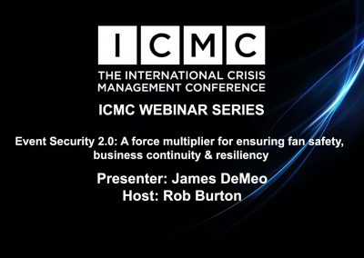 Event Security 2.0: A force multiplier for ensuring fan safety, business continuity & resiliency