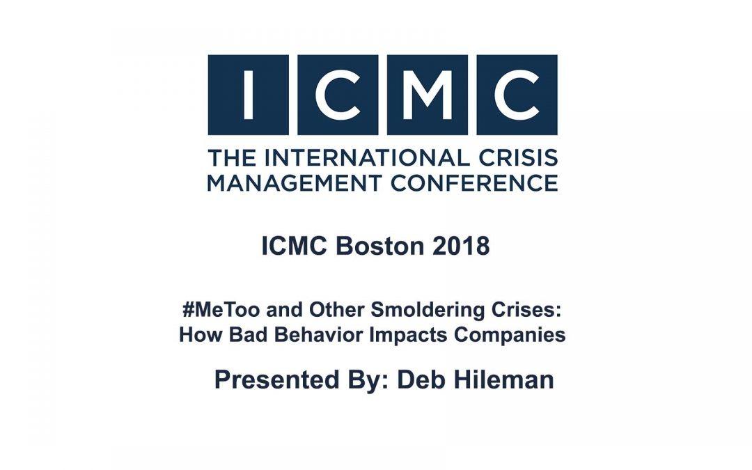 Deborah Hileman – #MeToo and Other Smoldering Crises: How Bad Behavior Impacts Companies