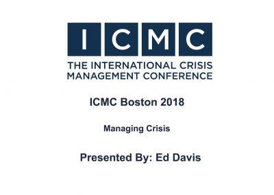 Ed Davis – Managing Crisis