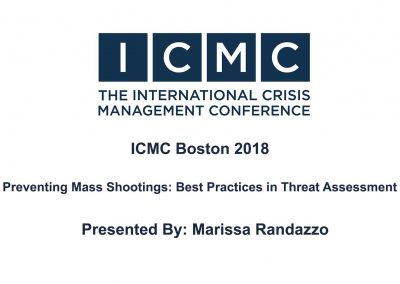 Marissa Randazzo – Preventing Mass Shootings: Best Practices in Threat Assessment