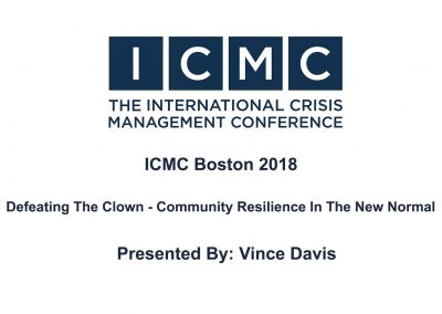 Vince Davis – Defeating The Clown – Community Resilience In The New Normal