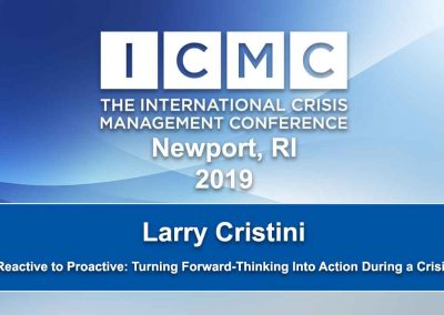 Reactive to Proactive: Turning Forward-Thinking into Action During a Crisis