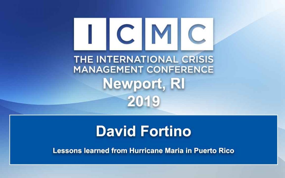 Lessons learned from Hurricane Maria in Puerto Rico