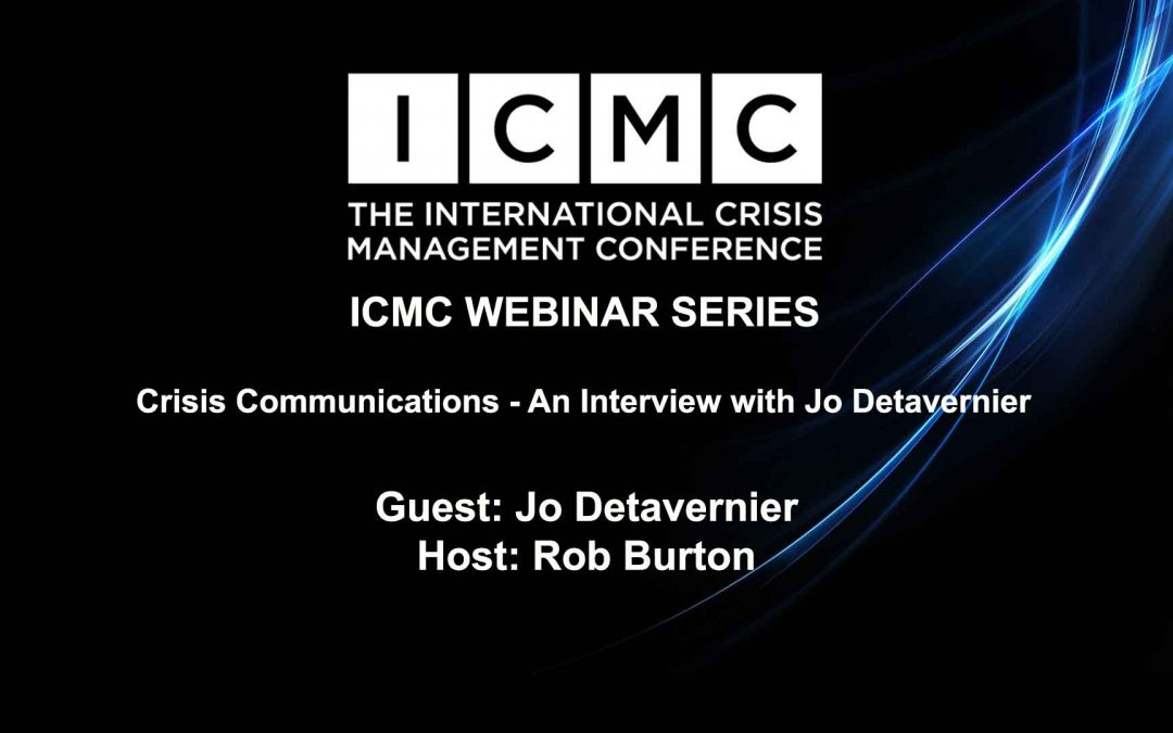 Crisis Communications – An Interview with Jo Detavernier