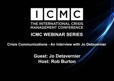 Crisis Communications – An Interview with Jo Detavernier