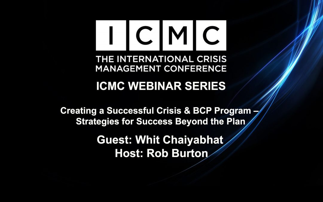 Creating a Successful Crisis & BCP Program – Strategies for Success Beyond the Plan