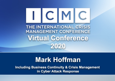 Including Business Continuity & Crisis Management in Cyber Attack Response